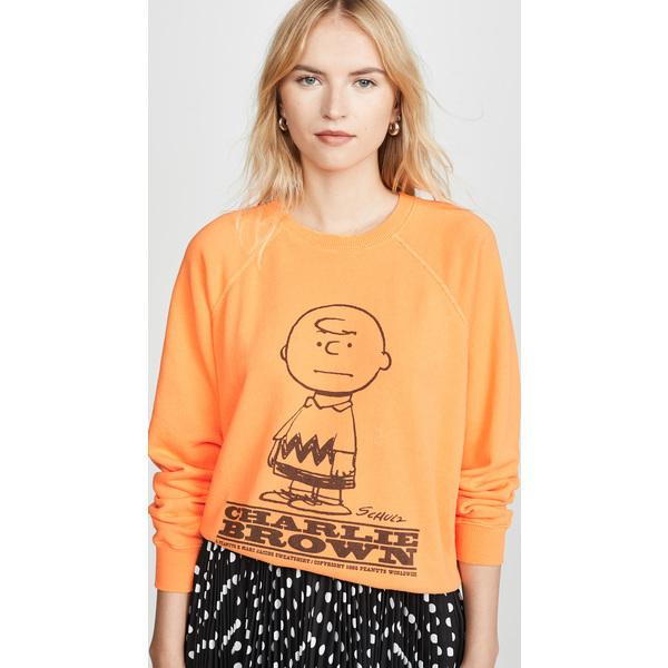(取寄)マークジェイコブス ザ ピーナッツ スウェットシャツ The Marc Jacobs The Peanuts Sweatshirt Orange
