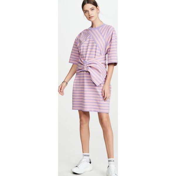 (取寄)マークジェイコブス ザ ストライプド Tシャツ ドレス The Marc Jacobs The Striped T-Shirt Dress LavenderMulti