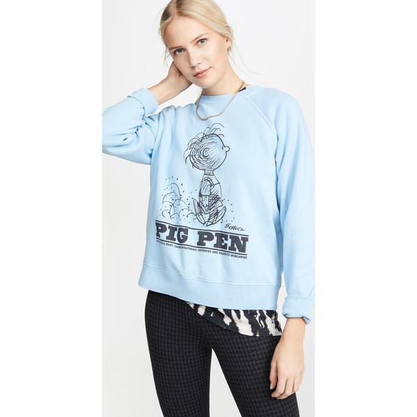 (取寄)マークジェイコブス ピーナッツ ピッグ ペン スウェットシャツ The Marc Jacobs Peanuts Pig Pen Sweatshirt Blue