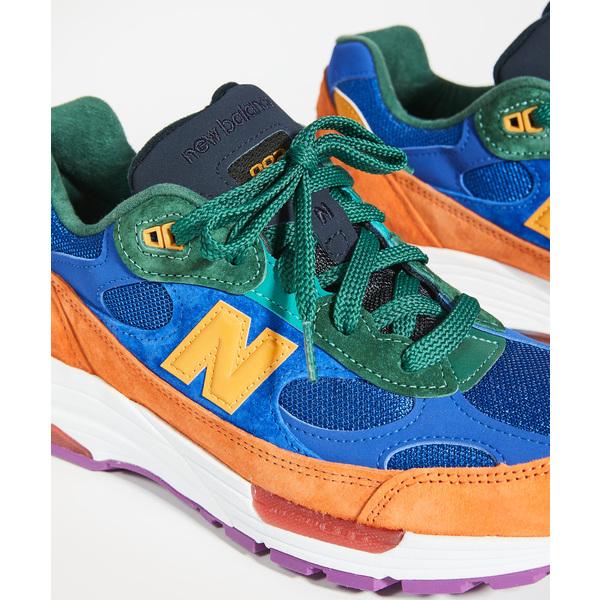(取寄)ニューバランス メンズ メイド イン USA 992 スニーカー New Balance Men's Made In USA 992 Sneakers Orange Blue