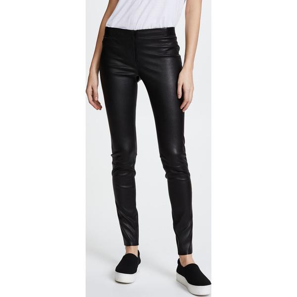 (取寄)アリス アンド オリビア レディース ジップ フロント レザー レギンス alice + olivia Women's Zip Front Leather Leggings Black