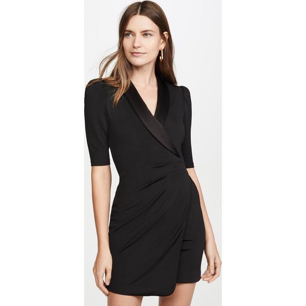 (取寄)アリス アンド オリビア レディース レミ プランジング V ネック フロント スーツ ドレス alice + olivia Women's Remi Plunging V Neck Front Suit Dress Black
