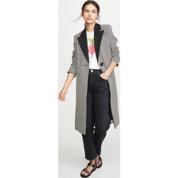 (取寄)アリス アンド オリビア レディース シエナ ロング ブレーザー コート alice + olivia Women's Sienna Long Blazer Coat Black White