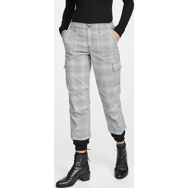 (取寄)アリス アンド オリビア レディース アイザック ディストレス カーゴ パンツ alice + olivia Women's Isaac Distress Cargo Pants Black White