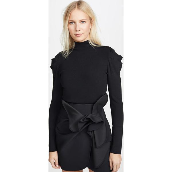 (取寄)アリス アンド オリビア レディース シシ ドラマティック パフ スリーブ プルオーバー alice + olivia Women's Cece Dramatic Puff Sleeve Pullover Black