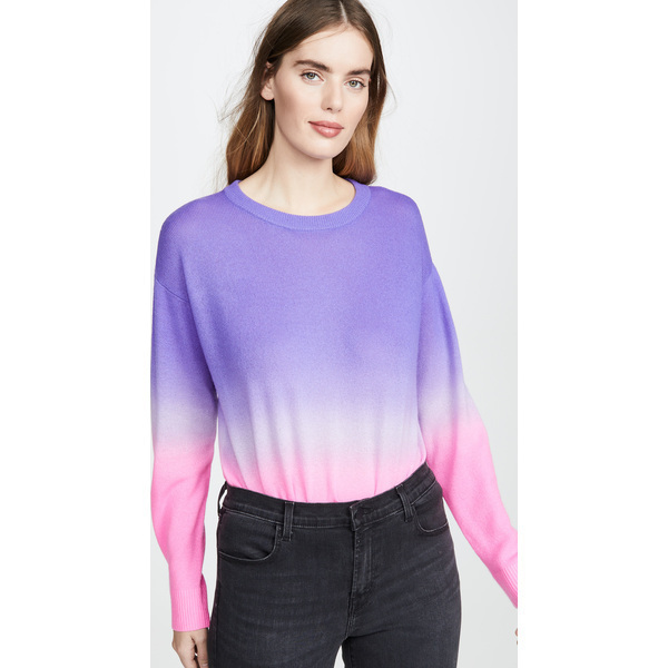 (取寄)アリス アンド オリビア レディース グリーソン ディップ ダイ ロング スリーブ カシミア プルオーバー alice + olivia Women's Gleeson Dip Dye Long Sleeve Cashmere Pullover Violet Lavender NeonPink