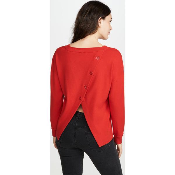 (取寄)アリス アンド オリビア レディース ルエラ スプリット バック セーター alice + olivia Women's Ruela Split Back Sweater Paprika