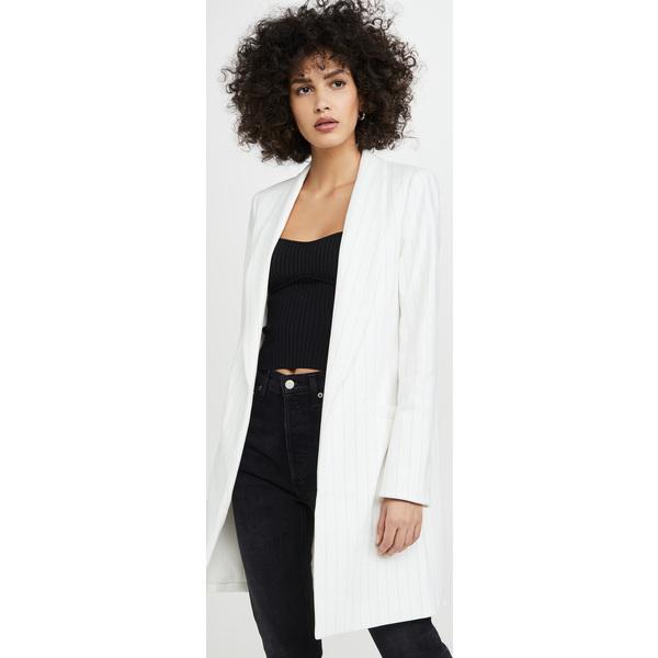 (取寄)アリス アンド オリビア レディース カイリー ロング イージー ショール カラー ジャケット alice + olivia Women's Kylie Long Easy Shawl Collar Jacket White Black