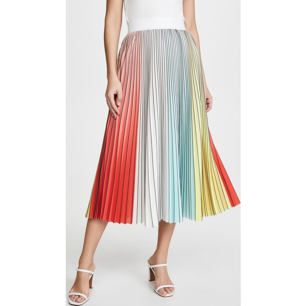 (取寄)アリス アンド オリビア レディース アーデン プリーツ ミディ スカート alice + olivia Women's Arden Pleated Midi Skirt Multi