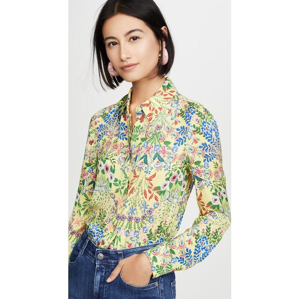 (取寄)アリス アンド オリビア レディース ウイルエー ボタン ダウン シャツ alice + olivia Women's Willa Button Down Shirt Wildflower Daffodil
