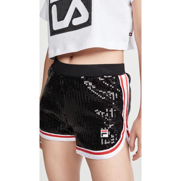 (取寄)フィラ レディース カチナ シークイン ショーツ Fila Women's Kachina Sequin Shorts Black White ChineseRed