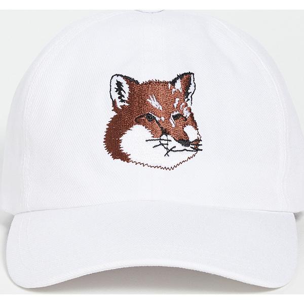 【エントリーでポイント5倍】(取寄)メゾンキツネ エンブロイダー フォックス ヘッド キャップ Maison Kitsune Embroidered Fox Head Cap White