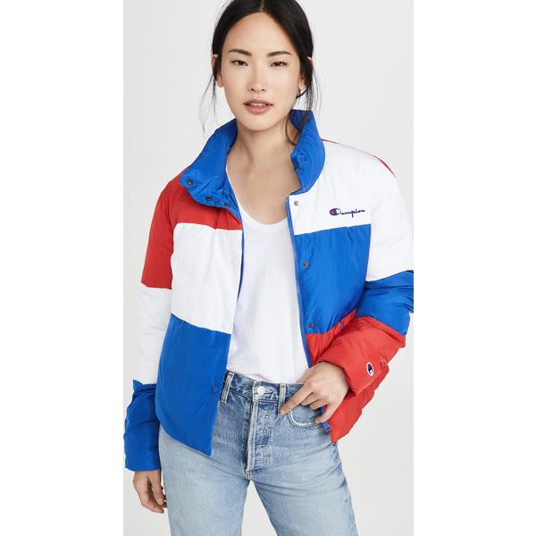 (取寄)チャンピオン プレミアム リバース ウィーブ レディース カラーブロック パファー ジャケット Champion Premium Reverse Weave Women's Colorblock Puffer Jacket SurfTheWeb
