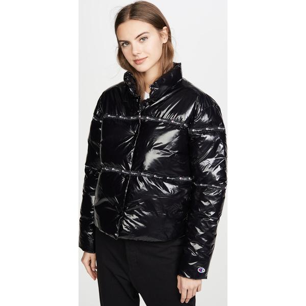 (取寄)チャンピオン プレミアム リバース ウィーブ レディース パフ ジャケット Champion Premium Reverse Weave Women's Puff Jacket Black