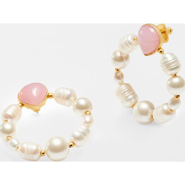 【クーポンで最大2000円OFF】(取寄)ケイトスペード パール ドロップ フープ Kate Spade New York Pearl Drop Hoops Pink