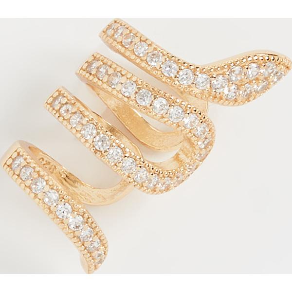 【クーポンで最大2000円OFF】(取寄)シャシ サーペント イア カフ Shashi Serpent Ear Cuff Gold