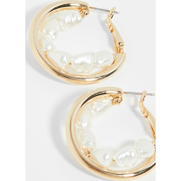 【クーポンで最大2000円OFF】(取寄)シャシ ズーパーノーヴァ ピアス Shashi Supernova Earrings Gold Pearl