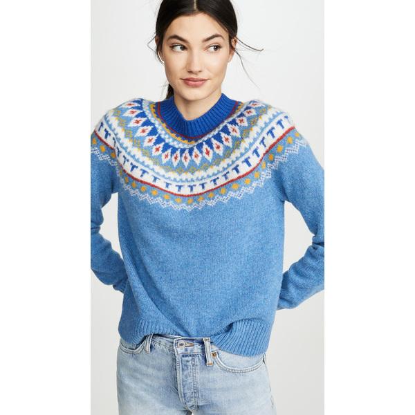 (取寄)トリーバーチ レディース フェアアイル セーター Tory Burch Women's Fairisle Sweater LightSereneBlue
