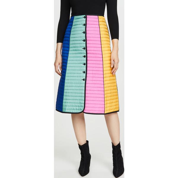 (取寄)トリーバーチ レディース カラーブロック キルテッド スカート Tory Burch Women's Colorblock Quilted Skirt DuchessBlue