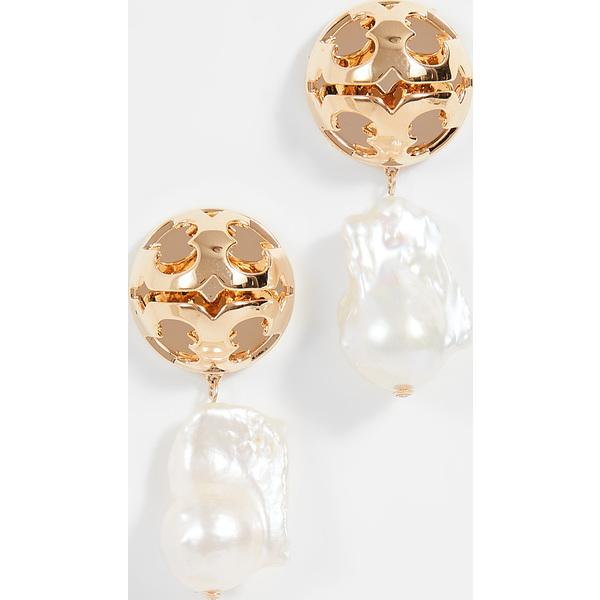 【クーポンで最大2000円OFF】(取寄)トリーバーチ レディース バブル ミラー バロック パール ドロップ ピアス Tory Burch Women's Bubble Miller Baroque Pearl Drop Earrings ToryGold