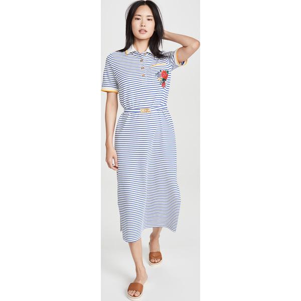 (取寄)トリーバーチ レディース ストライプド ポロ ドレス Tory Burch Women's Striped Polo Dress FreshStripe