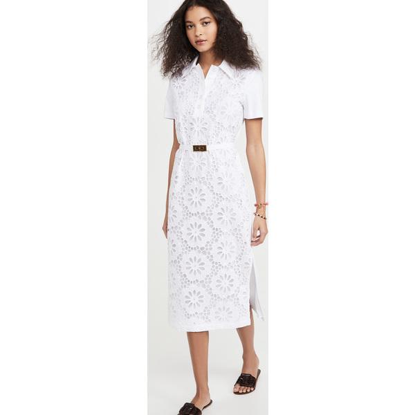 (取寄)トリーバーチ レディース レース ポロ ドレス Tory Burch Women's Lace Polo Dress White