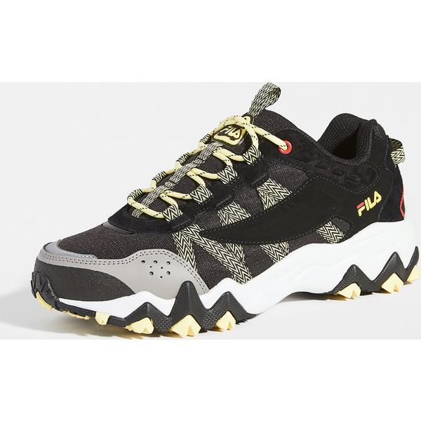 (取寄)フィラ フィールドストーン トレイル スニーカー FILA Fieldstone Trail Sneakers Black DecemberSky Limelight