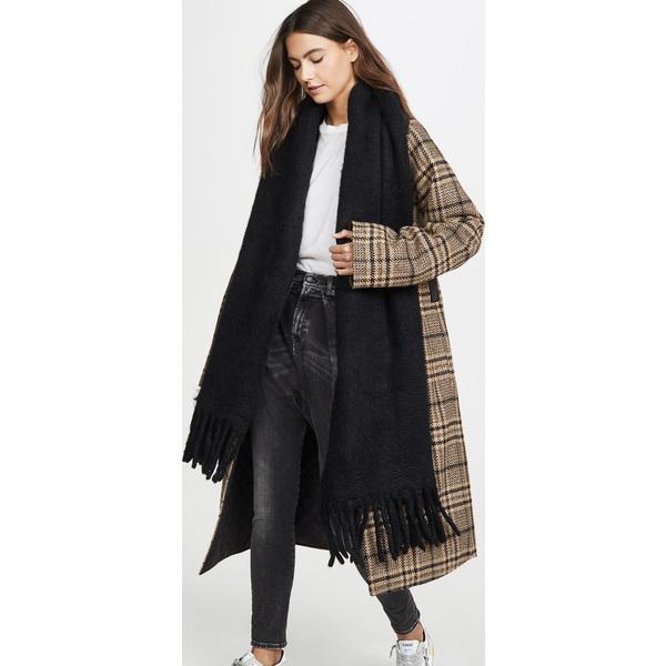 (取寄)レベッカミンコフ ウーブン ブランケット スカーフ Rebecca Minkoff Woven Blanket Scarf Black