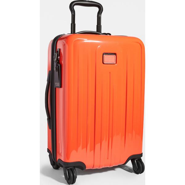 (取寄)トゥミ V4 インターナショナル エクスパンダブル 4 ホイール キャリー オン スーツケース Tumi V4 International Expandable 4 Wheel Carry On Suitcase BrightRed
