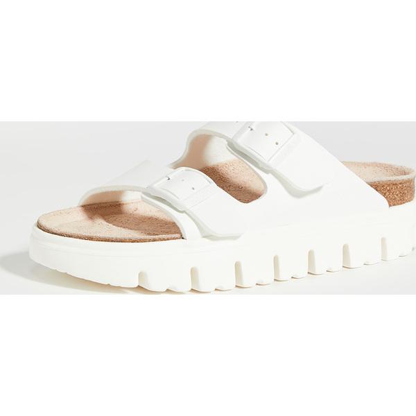 (取寄)ビルケンシュトック アリゾナ チャンキー サンダル - ナロー Birkenstock Arizona Chunky Sandals - Narrow White