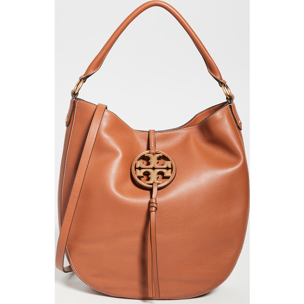 (取寄)トリーバーチ レディース ミラー メタル スロウチ ホーボー バッグ Tory Burch Women's Miller Metal Slouchy Hobo Bag AgedCamello