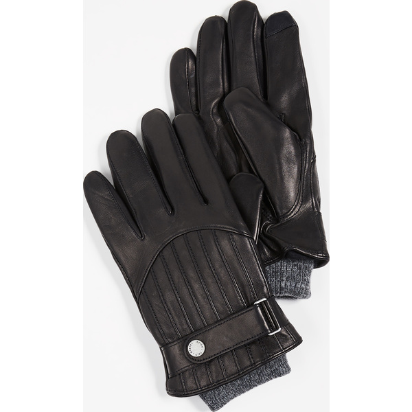 (取寄)ポロ ラルフローレン キルテッド レーシング グローブ Polo Ralph Lauren Quilted Racing Gloves Black
