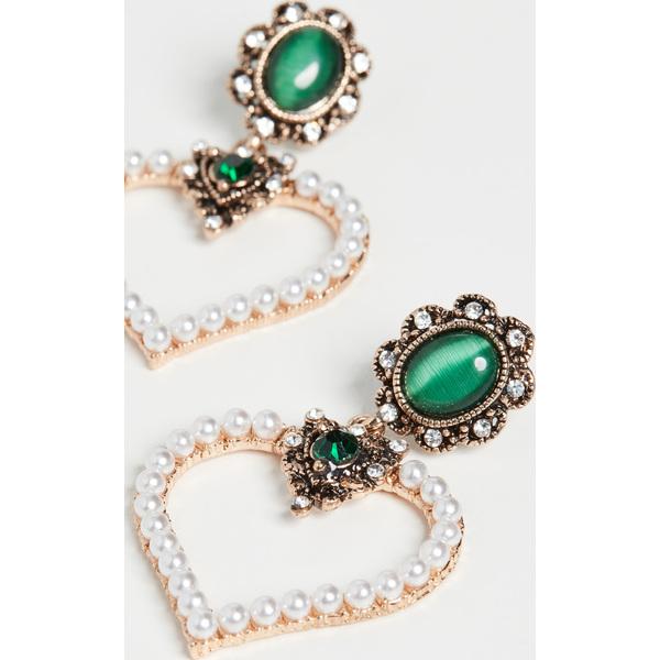 【クーポンで最大2000円OFF】(取寄)シャシ トレゾア ピアス Shashi Trsor Earrings Emerald