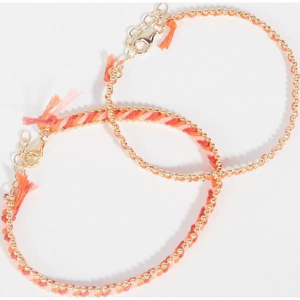 【クーポンで最大2000円OFF】(取寄)シャシ ユー アンド ミー ブレスレット セット Shashi You & Me Bracelet Set Orange