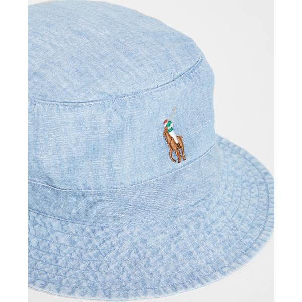 (取寄)ポロ ラルフローレン ロフト バケット ハット Polo Ralph Lauren Loft Bucket Hat Blue