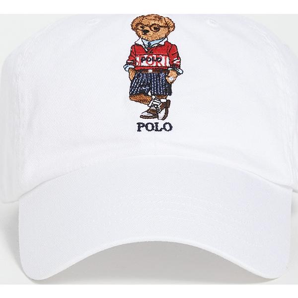 (取寄)ポロ ラルフローレン クラシック ベアー スポーツ キャップ Polo Ralph Lauren Classic Bear Sport Cap White
