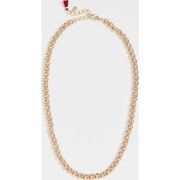 【クーポンで最大2000円OFF】(取寄)シャシ サラ カーブ チェイン ネックレス Shashi Sarah Curb Chain Necklace Gold Crystal