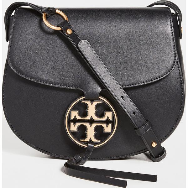 (取寄)トリーバーチ レディース ミラー メタル サドル バッグ Tory Burch Women's Miller Metal Saddle Bag Black