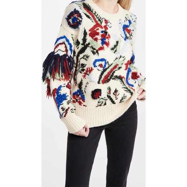 Tory Burch トリーバーチ セーター ニット レディース ブランド ウェア ファッション 女性 かわいい Women's Knit 大きいサイズ Sweater 取寄 まとめ買い特価 ハンド 買い物 インターシャ VintageIvory Intarsia Hand 正規品