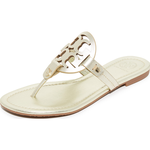 454994750c66e (order) Tory Burch Miller Thong Sandals Tolly Birch mirror tong sandals  Spark Gold