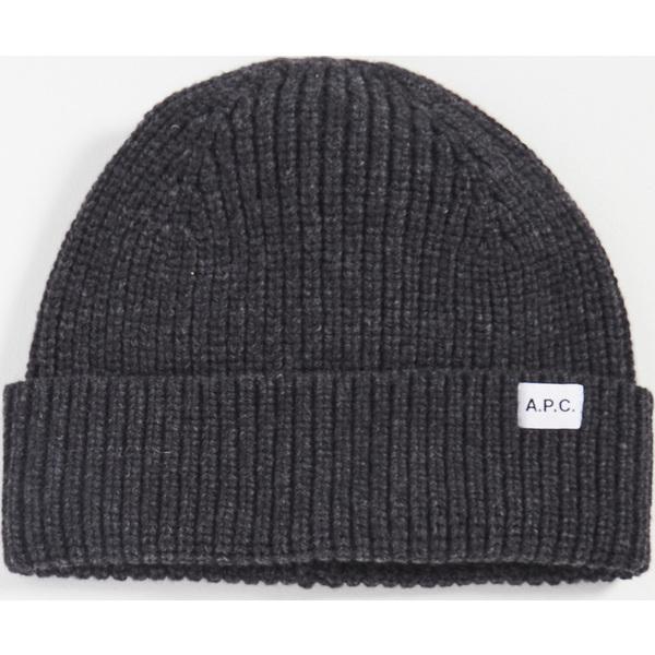 A.P.C. アーペーセー メンズ 帽子 ニット帽 ビーニー Beanie ブランド (取寄)アーペーセー ビリー ビーニー A.P.C. Billie Beanie HeatheredAnthracite