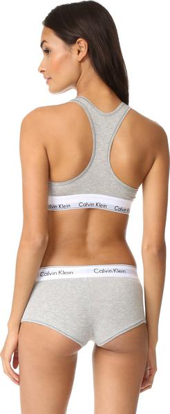 fb6bd54a85b49 (order) Calvin Klein Underwear Women s Modern Cotton Bralette Calvin Klein  underwear lady s modern cotton bra let Grey Heather