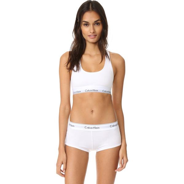 (order) Calvin Klein Underwear Women s Modern Cotton Bralette Calvin Klein  underwear lady s modern cotton bra let White 66c70b4eadb