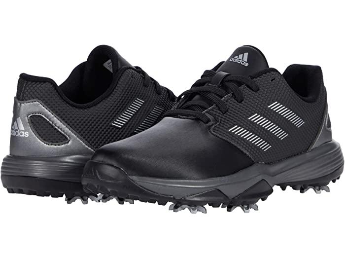 adidas アディダス キッズ ゴルフシューズ 靴 ブランド スポーツ ジュニア 大きいサイズ ビックサイズ カジュアル ファッション 取寄 リトル Little 定価の67%OFF Mettalic Silver Golf Jr. ビッグ ZG21 新作送料無料 Kid Metallic Black Big Core
