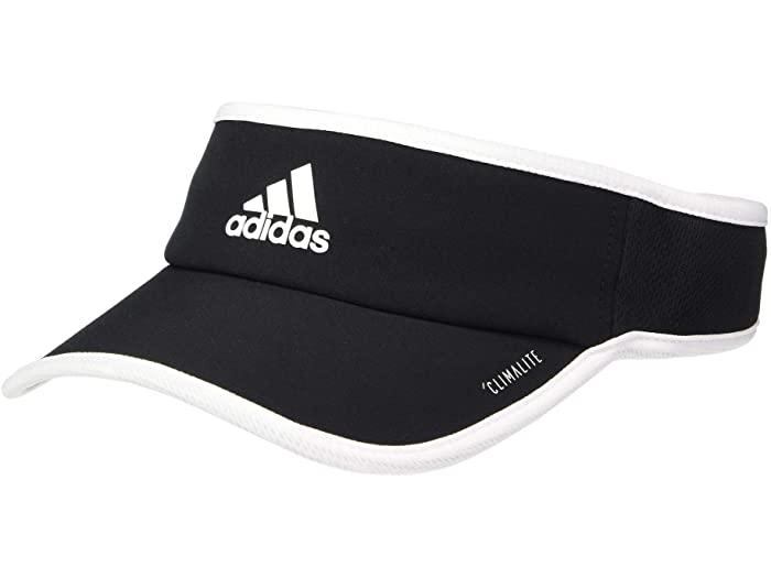 adidas アディダス レディース トレンド サンバイザー キャップ 帽子 スポーツ ブランド カジュアル 上等 ストリート Superlite White スーパーライト バイザー 取寄 ファッション Women's Black Cap Visor