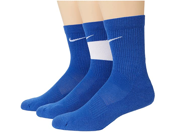 NIKE ナイキ キッズ 靴下 ソックス レッグウェア ジュニア ブランド スポーツ 新作多数 ファッション 大きいサイズ ビックサイズ 取寄 エリート 全店販売中 クルー 3ペア Elite Crew Nike Kid 3-Pair Kids リトル Little Royal Big Socks ビッグ Game White