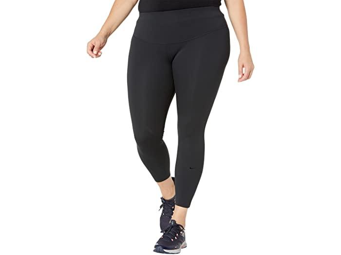NIKE ナイキ パンツ タイツ レギンス インナー フィットネス ジョギング トレーニング ブランド スポーツ ファッション 大きいサイズ ビックサイズ (取寄)ナイキ レディース プラス サイズ ワン ラグゼ MR 7/8 タイツ Nike Women's Plus Size One Luxe MR 7/8 Tights Black