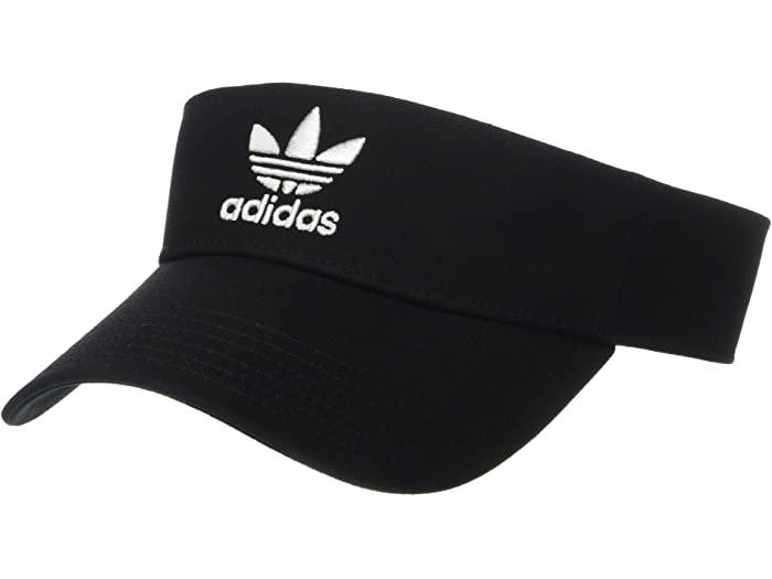 市場 adidas 至高 Originals アディダス オリジナルス サンバイザー キャップ 帽子 ブランド カジュアル ストリート スポーツ Visor 取寄 ツイル White ファッション Twill Unisex Black バイザー ユニセックス