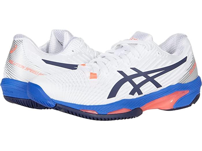 ASICS アシックス レディース シューズ 靴 テニス 販売実績No.1 スポーツ ブランド 女性 大きいサイズ Speed スピード 公式通販 Women's 取寄 FF ビックサイズ White Peacoat Solution 2