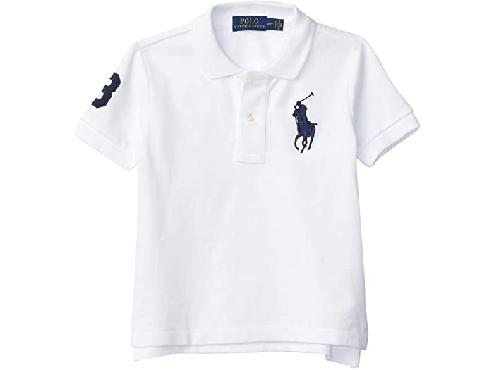 Polo Ralph Lauren ポロ ラルフローレン キッズ Tシャツ シャツ インナー トップス ベビー 幼児 ファッション ブランド ボーイズ Kids トドラー コットン Mesh Toddler 結婚祝い メール便対応 メッシュ 安い White 取寄 Boy's Shirt Cotton